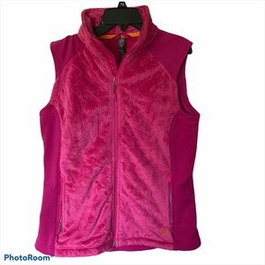 Mountain Hardware pink plush quilted outdoor vest